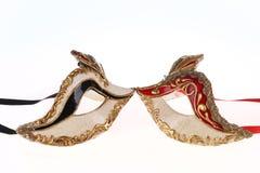 Ενετικές μάσκες καρναβαλιού που απομονώνονται Στοκ Εικόνα