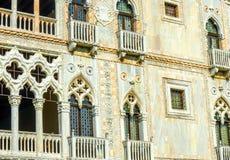 Ενετικός τοίχος Βενετία Ιταλία οικοδόμησης Architeture Στοκ φωτογραφία με δικαίωμα ελεύθερης χρήσης