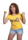 Ενθαρρυντική νέα γυναίκα από τη Βενεζουέλα Στοκ εικόνες με δικαίωμα ελεύθερης χρήσης