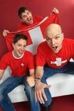 ενθαρρυντικός αθλητισμός Ελβετός ανεμιστήρων Στοκ εικόνες με δικαίωμα ελεύθερης χρήσης