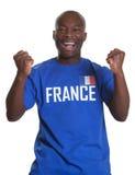 Ενθαρρυντικός γαλλικός αθλητικός ανεμιστήρας Στοκ Φωτογραφίες