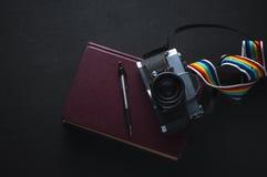 Ενθυμήσεις του φωτογράφου ταξιδιού Στοκ φωτογραφία με δικαίωμα ελεύθερης χρήσης