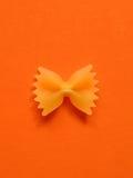 Ενιαία ζυμαρικά farfalle Στοκ εικόνα με δικαίωμα ελεύθερης χρήσης