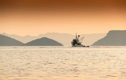 Ενιαία κεφάλια αλιευτικών σκαφών έξω στη θάλασσα Αδριατική, Κροατία Στοκ Φωτογραφίες