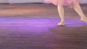 Ενιαία πόδια μπαλέτου απόθεμα βίντεο