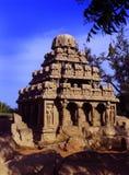Ενιαία σμιλευμένη πέτρα αίθουσα στο mahabalipuram- πέντε rathas Στοκ φωτογραφία με δικαίωμα ελεύθερης χρήσης