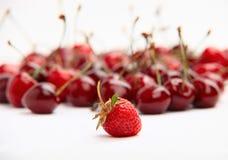 ενιαία φράουλα κερασιών &al Στοκ φωτογραφία με δικαίωμα ελεύθερης χρήσης