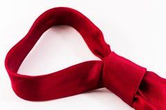 Ενιαίος δεμένος κόκκινος δεσμός μεταξιού στοκ φωτογραφία