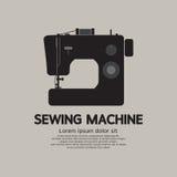 Ενιαίος μαύρος γραφικός μηχανών ραψίματος Στοκ Φωτογραφία
