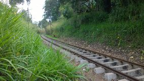 Ενιαίος σιδηρόδρομος στοκ εικόνα με δικαίωμα ελεύθερης χρήσης
