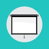 Ενιαίο εικονίδιο σχεδίου προβολέων επίπεδο Στοκ φωτογραφίες με δικαίωμα ελεύθερης χρήσης
