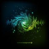 Ενιαίο ζωηρόχρωμο eq, εξισωτής Διανυσματικό υγιές ακουστικό κύμα, συχνότητα, μελωδία, ηχητική λωρίδα στη νύχτα για το χορό ηλεκτρ Στοκ Φωτογραφία