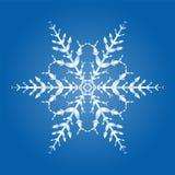 Ενιαίο κρύσταλλο νιφάδων χιονιού ελεύθερη απεικόνιση δικαιώματος