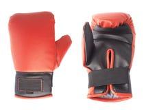 Ενιαίο κόκκινο και μαύρο εγκιβωτίζοντας γάντι Στοκ φωτογραφία με δικαίωμα ελεύθερης χρήσης