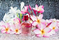 Ενιαίο μπουκάλι του γλυκού ρόδινου ευώδους αρώματος Στοκ Φωτογραφία