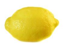 Ενιαίο ολόκληρο λεμόνι, που απομονώνεται σε ένα άσπρο υπόβαθρο Στοκ Εικόνες