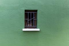 Ενιαίο παράθυρο σε πράσινο Στοκ Φωτογραφίες