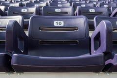 Ενιαίο πορφυρό κάθισμα σταδίων Στοκ Εικόνες