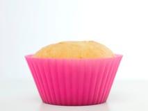 Ενιαίο σαφές cupcake στη ρόδινη φόρμα σιλικόνης Στοκ φωτογραφίες με δικαίωμα ελεύθερης χρήσης