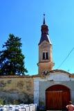 Ενισχυμένη μεσαιωνική σαξονική εκκλησία σε Dacia, νομός Brasov, Τρανσυλβανία καταστροφές Στοκ φωτογραφίες με δικαίωμα ελεύθερης χρήσης
