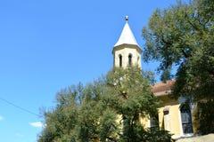Ενισχυμένη μεσαιωνική σαξονική εκκλησία σε Jibert, νομός Brasov, Τρανσυλβανία καταστροφές Στοκ εικόνα με δικαίωμα ελεύθερης χρήσης