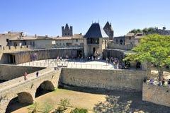 Ενισχυμένη πόλη του Carcassonne Στοκ Φωτογραφίες