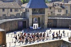 Ενισχυμένη πόλη του Carcassonne Στοκ φωτογραφία με δικαίωμα ελεύθερης χρήσης