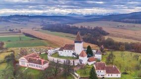 Ενισχυμένη Hosman εκκλησία στην Τρανσυλβανία, Ρουμανία στοκ εικόνα με δικαίωμα ελεύθερης χρήσης