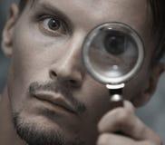 ενισχύοντας άτομο γυαλιού στοκ φωτογραφίες