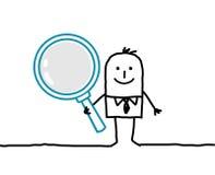 ενισχύοντας άτομο γυαλ&iot διανυσματική απεικόνιση
