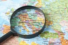 ενισχύοντας χάρτης γυαλ&io Στοκ Εικόνες