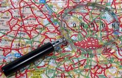 ενισχύοντας χάρτης γυαλ&io Στοκ εικόνες με δικαίωμα ελεύθερης χρήσης