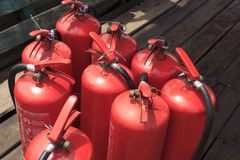 Εννέα από την πυρκαγιά extinguishe Στοκ φωτογραφία με δικαίωμα ελεύθερης χρήσης