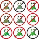 Εννέα διαφορετικές εκδόσεις των λογότυπων με ένα μικρόβιο Στοκ Εικόνα