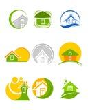 Εννέα λογότυπα καθορισμένα Διανυσματική απεικόνιση