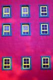 εννέα Windows Στοκ Εικόνες