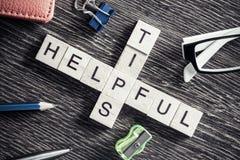 Εννοιολογικές επιχειρησιακές λέξεις κλειδιά στον πίνακα με τα στοιχεία του maki παιχνιδιών Στοκ Φωτογραφίες