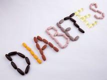 Εννοιολογική έννοια υγείας ιατρικής φροντίδας έμπνευσης τίτλων κειμένων γραψίματος χεριών που γράφεται με το διαβήτη λέξης καψών  Στοκ φωτογραφία με δικαίωμα ελεύθερης χρήσης