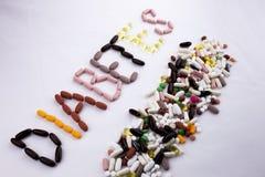 Εννοιολογική έννοια υγείας ιατρικής φροντίδας έμπνευσης τίτλων κειμένων γραψίματος χεριών που γράφεται με το διαβήτη λέξης καψών  Στοκ Εικόνες