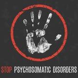 Εννοιολογική διανυσματική απεικόνιση Ανθρώπινη ασθένεια Ψυχοσωματικές αναταραχές στάσεων ελεύθερη απεικόνιση δικαιώματος