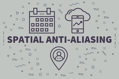 Εννοιολογική επιχειρησιακή απεικόνιση με τις λέξεις ο χωρικός αντι-Ali ελεύθερη απεικόνιση δικαιώματος