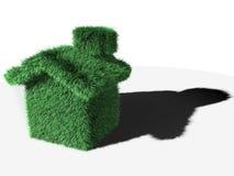 εννοιολογική πράσινη απεικόνιση σπιτιών Στοκ Φωτογραφίες