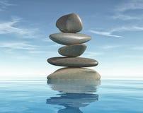 Εννοιολογικός της εικόνας με τις πέτρες περισυλλογής διανυσματική απεικόνιση