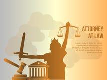 Εννοιολογικό διανυσματικό πρότυπο απεικόνισης σχεδίου πληρεξούσιων στο νόμο ελεύθερη απεικόνιση δικαιώματος