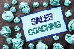 Εννοιολογικό κείμενο γραψίματος χεριών που παρουσιάζει προγύμναση πωλήσεων Έννοια που σημαίνει Mentoring επιτεύγματος επιχειρησια Στοκ εικόνα με δικαίωμα ελεύθερης χρήσης