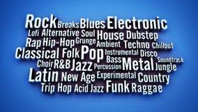 Εννοιολογικό τρισδιάστατο θέμα υφών μουσικής backgorund διανυσματική απεικόνιση