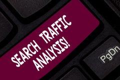 Εννοιολογικό χέρι που γράφει παρουσιάζοντας ανάλυση κυκλοφορίας αναζήτησης Λογισμικό ελέγχου εύρους ζώνης δικτύων επίδειξης επιχε στοκ εικόνες με δικαίωμα ελεύθερης χρήσης