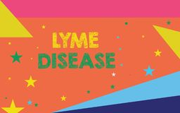 Εννοιολογικό χέρι που γράφει παρουσιάζοντας ασθένεια Lyme Μορφή επίδειξης επιχειρησιακών φωτογραφιών αρθρίτιδας που προκαλείται α ελεύθερη απεικόνιση δικαιώματος