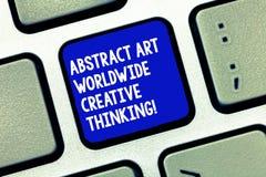 Εννοιολογικό χέρι που γράφει παρουσιάζοντας αφηρημένη τέχνη παγκοσμίως δημιουργική σκέψη Επιχειρησιακή φωτογραφία που επιδεικνύει στοκ φωτογραφίες