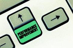Εννοιολογικό χέρι που γράφει παρουσιάζοντας βελτίωση απόδοσης Το μέτρο κειμένων επιχειρησιακών φωτογραφιών και τροποποιεί την παρ στοκ φωτογραφία με δικαίωμα ελεύθερης χρήσης